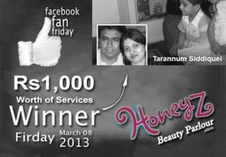 Thumb honeyz facebook winner tarannum siddique