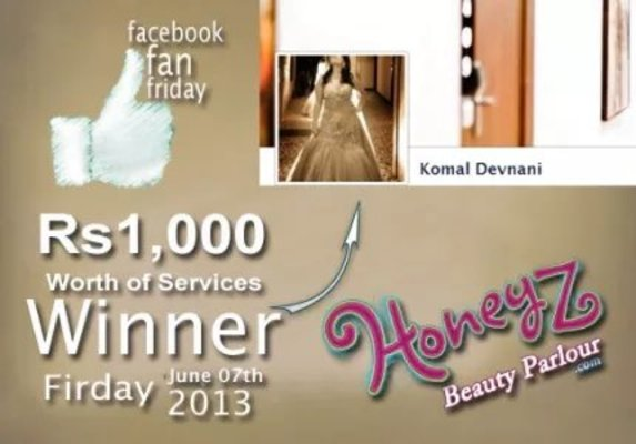 Show post image honeyz facebook winner komal devnanai 3