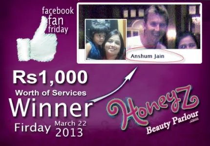 Honeyz facebook winner anshum jain jpg q