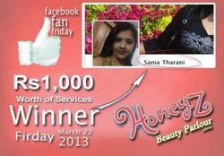 Thumb honeyz facebook winner sania tharani jpg